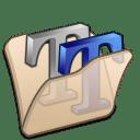 folder beige font2 icon