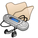 folder beige mymusic icon