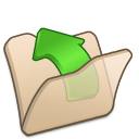 folder beige parent icon