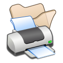 Folder beige printer icon