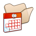 Folder beige scheduled tasks icon