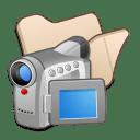 Folder-beige-videos icon