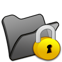 Folder-black-locked icon