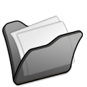 Folder-black-mydocuments icon