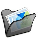 folder black mypictures icon