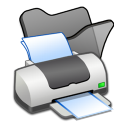 folder black printer icon