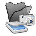 Folder black scanners cameras icon