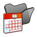 Folder-black-scheduled-tasks icon