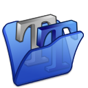 folder blue font2 icon