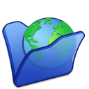 Folder blue internet icon