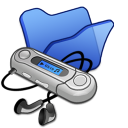 folder blue mymusic icon