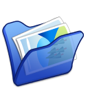 Folder-blue-mypictures icon