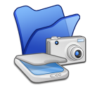Folder-blue-scanners-cameras icon