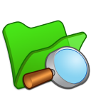 Folder-green-explorer icon