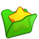 Folder-green-favourite icon