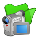 folder green videos icon
