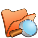 folder orange explorer icon