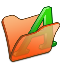 folder orange font1 icon