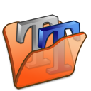 folder orange font2 icon
