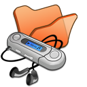 Folder-orange-mymusic icon