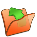 Folder orange parent icon