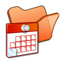 Folder-orange-scheduled-tasks icon