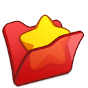Folder-red-favourite icon