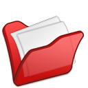 folder red mydocuments icon