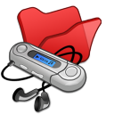 Folder-red-mymusic icon