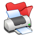 Folder-red-printer icon