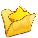 Folder yellow favourite icon