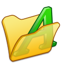 Folder-yellow-font1 icon