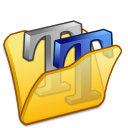 Folder-yellow-font2 icon