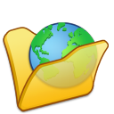 Folder yellow internet icon