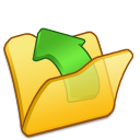 Folder yellow parent icon