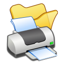 Folder yellow printer icon