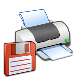 Hardware Printer Floppy icon