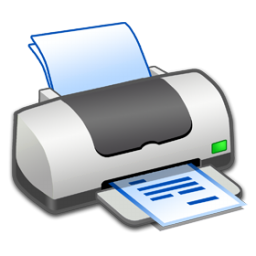 Hardware Printer Text icon