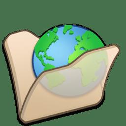 folder beige internet icon