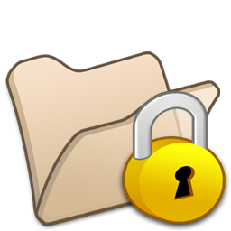 folder beige locked icon
