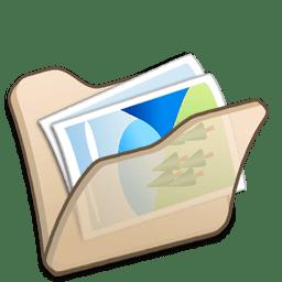 folder beige mypictures icon