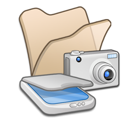 folder beige scanners cameras icon