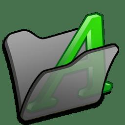 folder black font1 icon