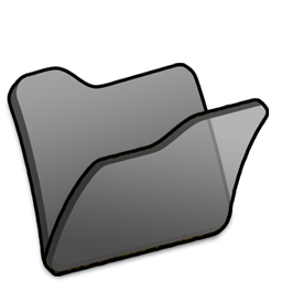 Folder black icon