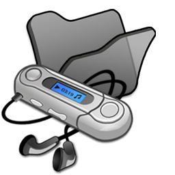 Folder black mymusic icon