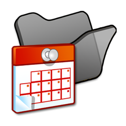 Folder black scheduled tasks icon