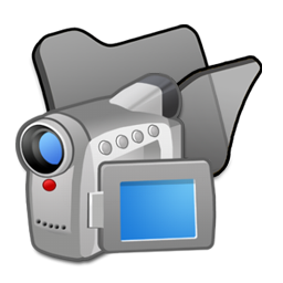 folder black videos icon