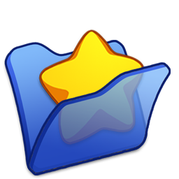 Folder blue favourite icon