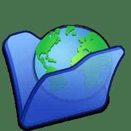 Folder blue internet icon