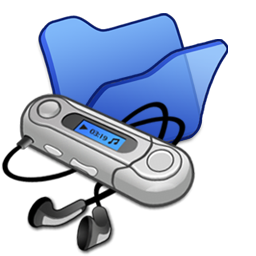 Folder blue mymusic icon